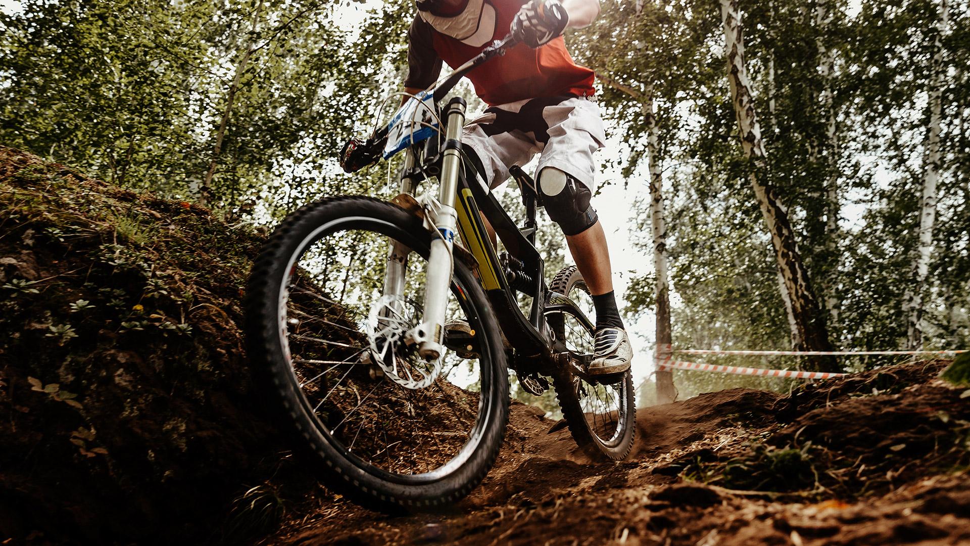 Mountainbike Unfall Downhill